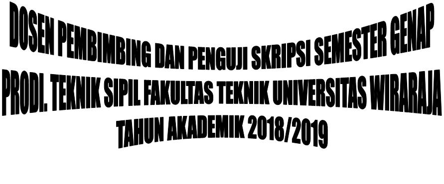 Dosen Pembimbing dan Penguji Skripsi Semester Genap 2018-2019